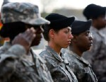 PHOTO: U.S. Army soldiers stand together as they salute during the memorial service that U.S. President Barack Obama and first lady Michelle Obama attended in honor of the thirteen victims of the shooting rampage in this Nov. 10, 2009 file photo in Fort H