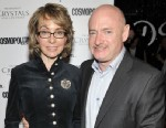 PHOTO: Former Arizona Rep. Gabrielle Giffords and her husband retired astronaut Mark Kelly arrive at the grand opening of SHe by Mortons at Crystals at CityCenter, Feb. 2, 2013 in Las Vegas.