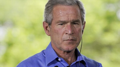 PHOTO: US President George W. Bush attends a joint press conference at the Granja do Torto outside Brasilia, Brazil in this November 6, 2005 file photo.