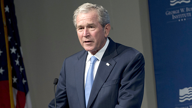 PHOTO: Former President George W. Bush speaks during an event hosted by the George W. Bush Presidential Center in Washington, DC, May 15, 2012.