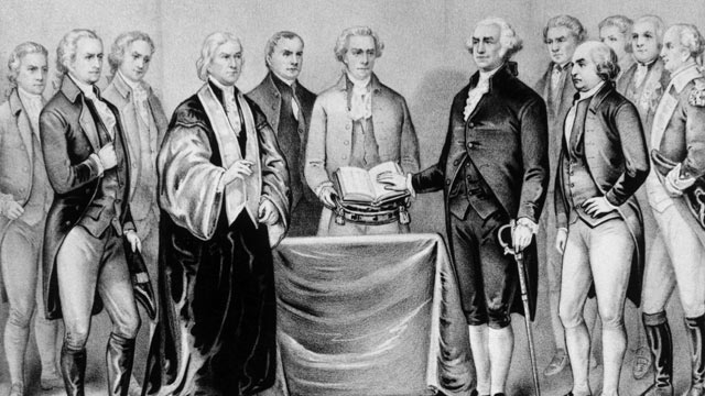 PHOTO: The inauguration of George Washington as the first President of the United States.