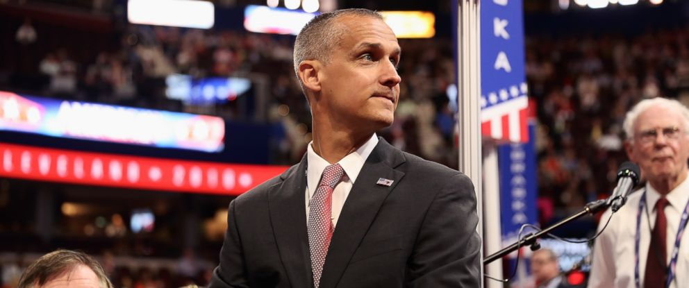 PHOTO: Corey Lewandowski, former campaign manager for Donald Trump, surveys the floor of the Republican National Convention on July 18, 2016 at the Quicken Loans Arena in Cleveland, Ohio.