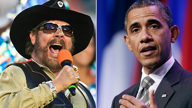 PHOTO: Hank Williams Jr. and President Obama