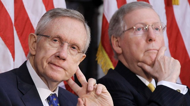 PHOTO: Harry Reid and Mitch McConnell