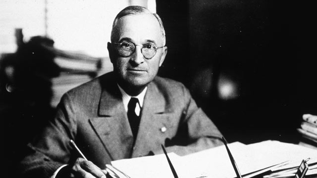 PHOTO: Harry S. Truman, the 33rd President of the United States, in 1945.