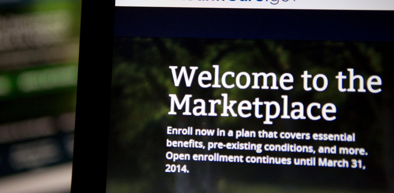 PHOTO: The Healthcare.gov website is displayed on laptop computers arranged for a photograph in Washington, D.C., U.S., on Oct. 24, 2013.