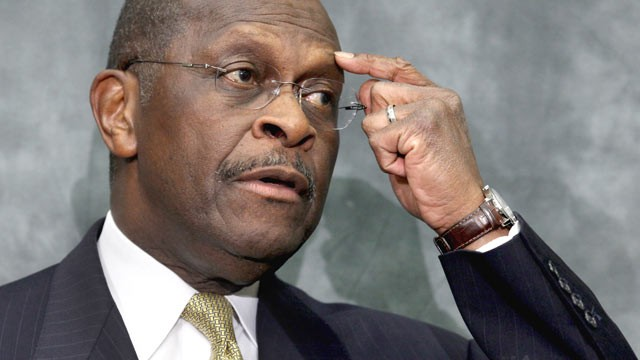 PHOTO: Republican presidential candidate and former CEO of Godfather's Pizza Herman Cain participates in a discussion with members of the Congressional Health Care Caucus on Capitol Hill, Washington, DC, Nov. 2, 2011.