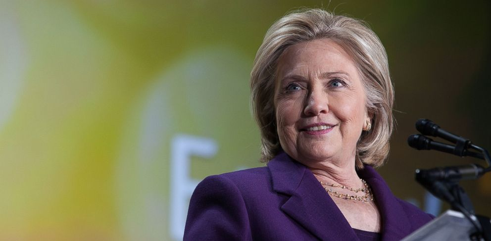 PHOTO: Former Secretary of State Hillary Clinton speaks at the EMILYs List 30th Anniversary Gala on March 3, 2015 in Washington, DC.