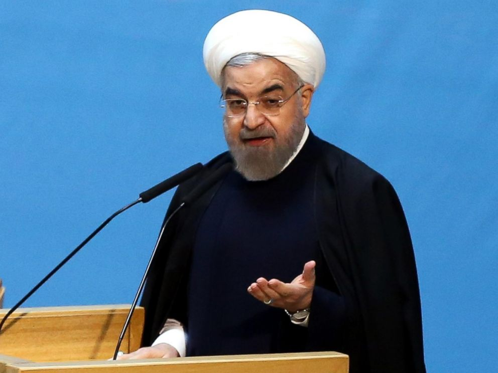 PHOTO: Iranian President Hassan Rouhani speaks during the opening ceremony of Irans national economy conference in Tehran on Jan. 4, 2015.