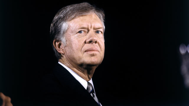 PHOTO: President Jimmy Carter campaigning in Oct. 1980 in Boston, Mass.
