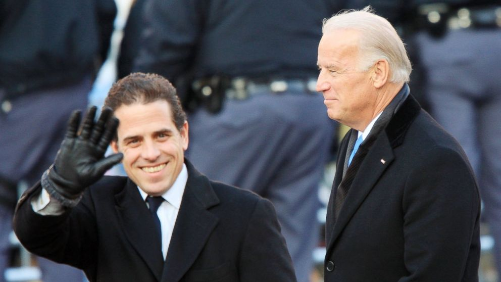 PHOTO: Vice President Joe Biden and his son Hunter Biden walk in the Inaugural Parade Jan. 20, 2009, in Washington.