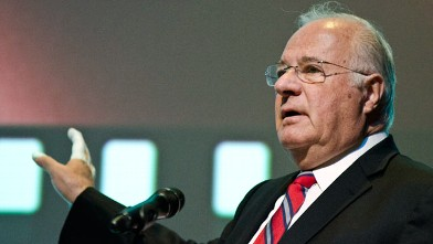 "PHOTO: Joe Ricketts speaks during the premiere of ""The Conspirator"" presented by The American Film Company, Ford's Theatre and Roadside Attractions at Ford's Theatre on April 10, 2011 in Washington, DC."