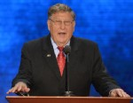 PHOTO: John Sununu speaks to the audience at the Tampa Bay Times Forum in Tampa, Fla. on Aug. 28, 2012 during the Republican National Convention.