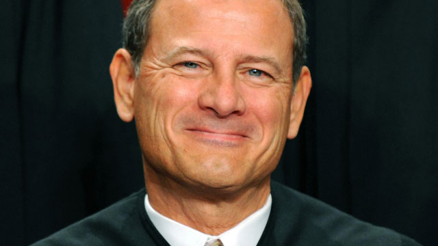 PHOTO: US Supreme Court Chief Justice John G. Roberts participates in the courts official photo session on Oct. 8, 2010 at the Supreme Court in Washington, DC.