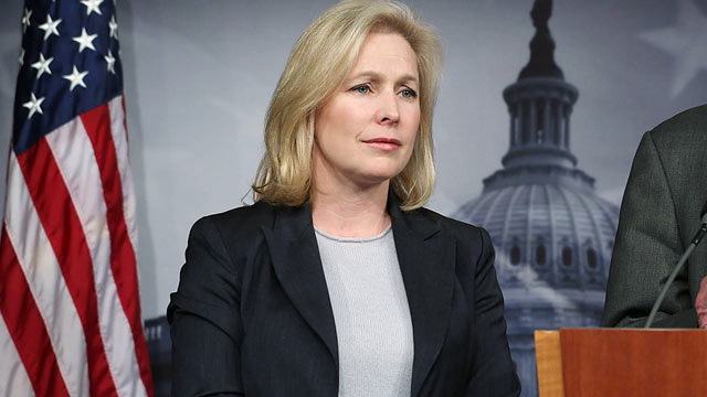 PHOTO: Sen. Kirsten Gillibrand, D-N.Y., speaks to the media during a news conference Jan. 4, 2013 on Capitol Hill in Washington, D.C.
