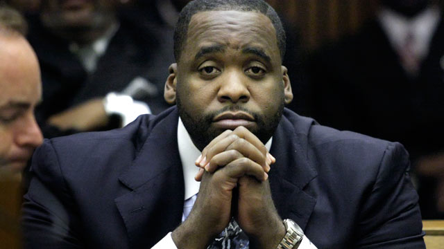 PHOTO: Former Detroit Mayor Kwame Kilpatrick appears in Wayne County Circuit Court for his sentencing October 28, 2008 in Detroit, Mich.