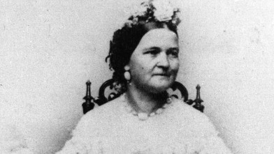 PHOTO: Mary Todd Lincoln, nee Mary Todd, the wife of Abraham Lincoln, the assassinated 16th President of the United States of America.