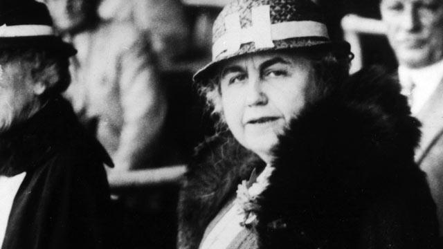 PHOTO: Mrs Woodrow Wilson, Edith Galt, the 2nd wife of American President, Woodrow Wilson, circa 1922.