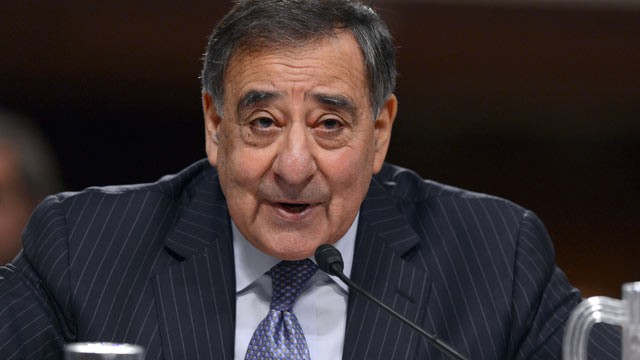 PHOTO: US Secretary of Defense Leon Panetta testifies on the attack on the US facilities in Benghazi, Libya, before the Senate Armed Services Committee on Capitol Hill in Washington, DC, Feb. 7, 2013.