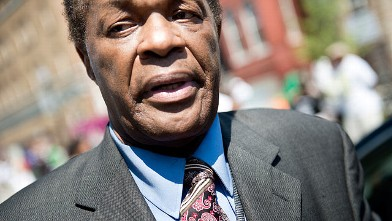 PHOTO: Former DC Mayor Marion Barry leaves is shown at the Howard Theater, May 29, 2012 in Washington.