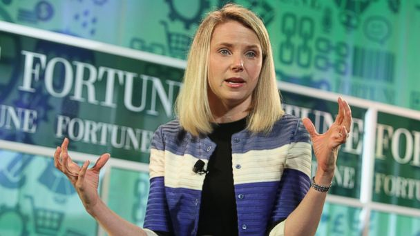 PHOTO: Yahoo CEO Marissa Mayer speaks onstage at the FORTUNE Most Powerful Women Summit on October 17, 2013 in Washington, DC.