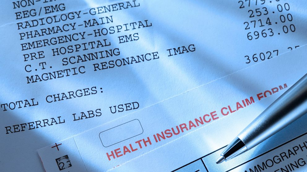 PHOTO: Medical expenses, insurance claim form