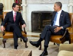 PHOTO: Enrique Pena Nieto, president-elect of Mexico, meets with President Barack Obama in the Oval Office of the White House in Washington, D.C., Nov. 27, 2012.