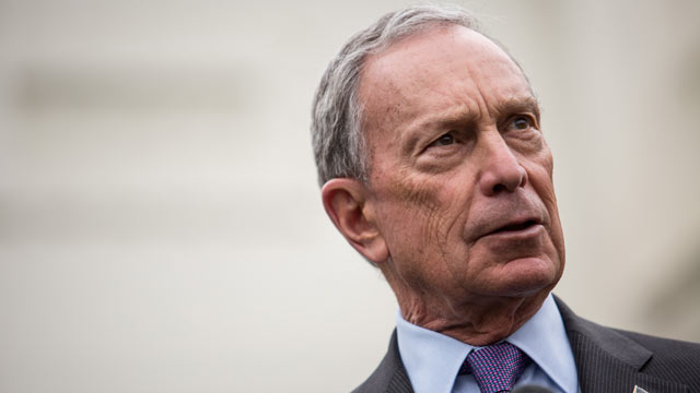 PHOTO: New York City Mayor Michael Bloomberg speaks to the media outside the West Wing of the White House, Feb. 27, 2013, in Washington, DC.