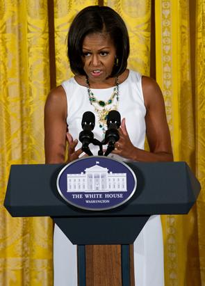 Michelle Obama Gets Sporty
