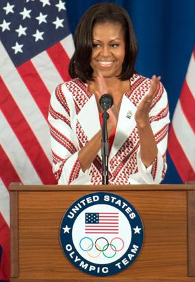 Michelle Obama Shimmers in Ohio