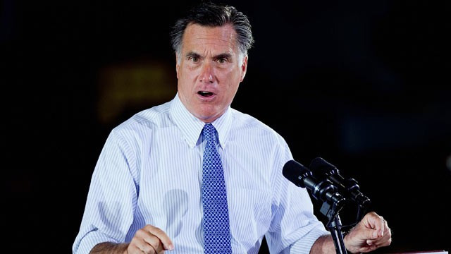 PHOTO: Rep. presidential candidate and former Mass. Gov. Mitt Romney speaks during a campaign event at the military contractor Production Products on June 7, 2012 in St. Louis, Mo.