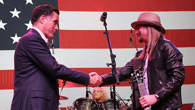 PHOTO: Mitt Romney and Kid Rock