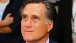 PHOTO: Former Republican presidential candidate and Massachusetts Gov. Mitt Romney sits ringside before Manny Pacquiao takes on Juan Manuel Marquez in their welterweight bout at the MGM Grand Garden Arena on Dec. 8, 2012 in Las Vegas.