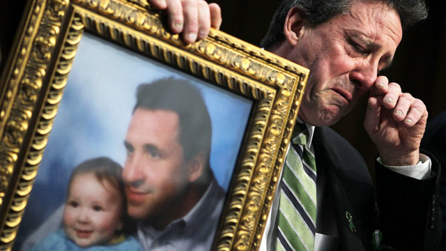 Newtown Dad Cries at Senate Gun Hearing