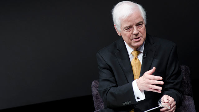 """PHOTO: Nick Clooney speaks during a screening of """"The China Syndrome,"""" at The Newseum, April 19, 2011, in Washington, DC."""