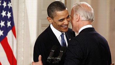 PHOTO: Barack Obama and Joe Biden