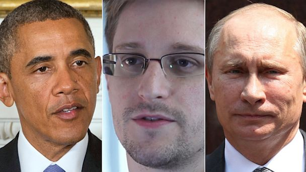 gty obama snowden putin mi 130801 16x9 608 With Snowden Loose, Lawmakers Urge Obama to Nix Russia Trip