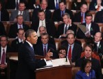PHOTO: President Barack Obama delivers his State of the Union speech before a joint session of Congress at the U.S. Capitol February 12, 2013 in Washington.