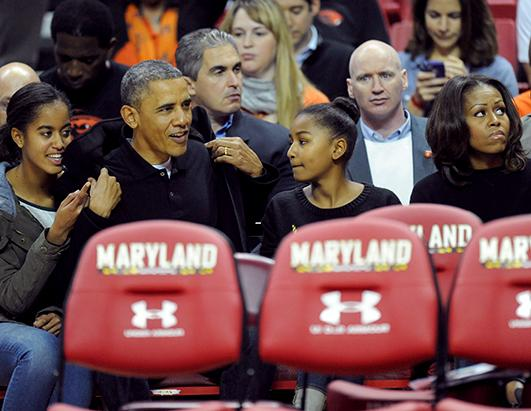 The First Family Enjoys Some College Basketball