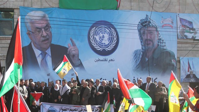 PHOTO: Palestinian UN observer state supporters