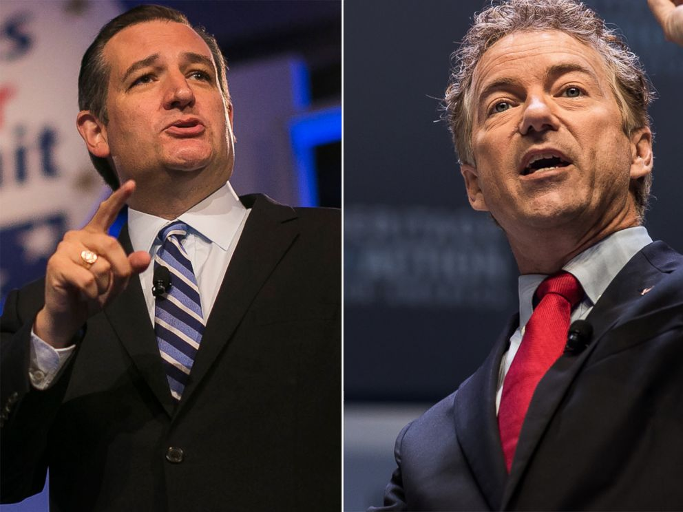 PHOTO: Ted Cruz and Rand Paul have been attacking each other during the campaign.