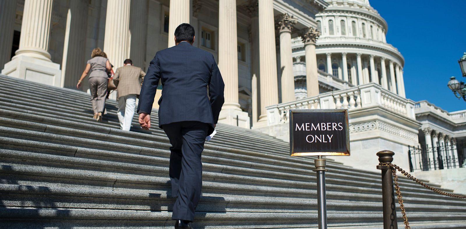 PHOTO: House representatives on Capitol steps