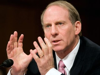 PHOTO: Richard Haass , testifies at a Senate Foreign Relations Committee hearing on Iraq and regional diplomacy, Jan. 17, 2007 in Washington, D.C. - gty_richard_haass_jp_120109_mn