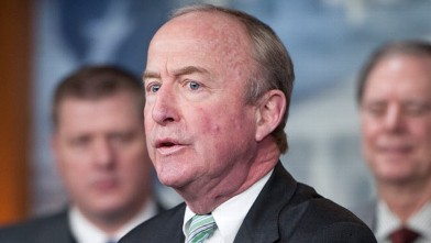 PHOTO: Rep. Rodney Frelinghuysen, speaks during a news conference on the repeal of the Independent Payment Advisory Board stipulated in the Affordable Care Act, Jan. 26, 2011.