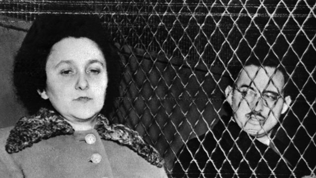 PHOTO: Julius and Ethel Rosenberg are seated in a police van in 1953 in New York shortly before their execution for espionage.