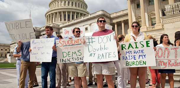 gty student loans protest capital171744788 33x16 608 The Note: Congress Leaves Town With Unfinished Business