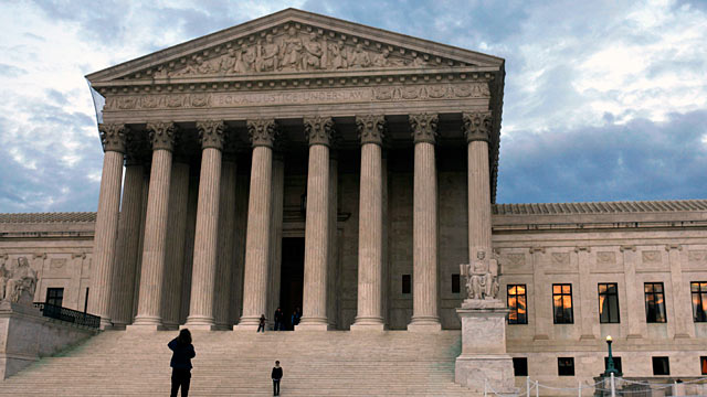 PHOTO: People visit the Supreme Court in Washington, DC.