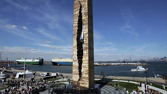 PHOTO: Teardrop monument