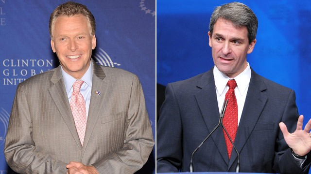 PHOTO: Terry McAuliffe and Ken Cuccinelli