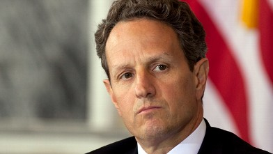 PHOTO: Timothy F. Geithner, U.S. treasury secretary, attends a Financial Stability Oversight Council meeting in Washington, D.C., April 3, 2012.